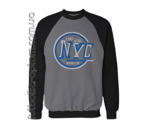 Реглан двухнитка NYC round blue-white big