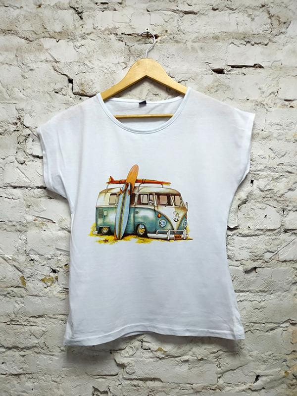 Футболка турецкая Bus White женская