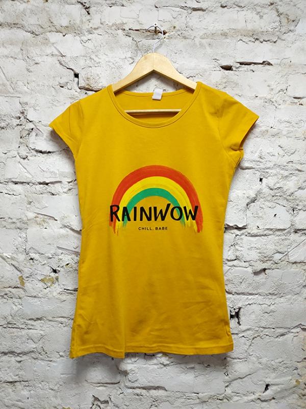 Футболка турецкая Rainwow Yellow женская