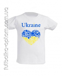 Подростковая Футболка Україна в серцях