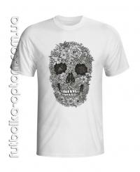 Футболка Flower Skull (Череп цветок)