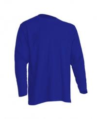 Синяя мужская футболка с длинным рукавом