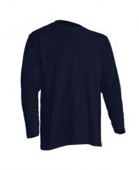 Темно синяя мужская футболка с длинным рукавом