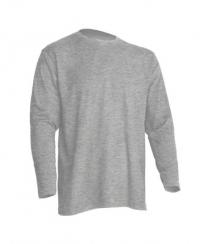 Темно-серая меланж мужская футболка с длинным рукавом