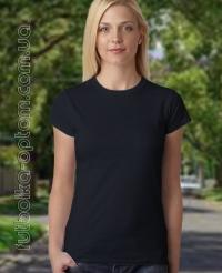 Черная женская футболка Standart