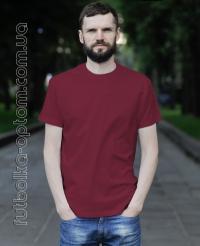 Бордовая мужская футболка Standart