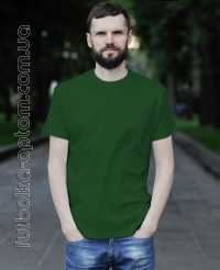 Темно-зеленая мужская футболка Standart