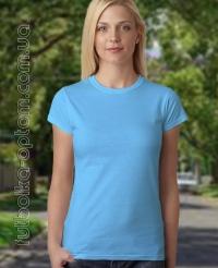 Голубая женская футболка Standart