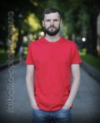 Красная мужская футболка Standart