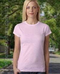 Розовая однотонная футболка Standart