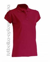 Футболка женская Polo бордо