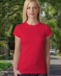 Красная женская футболка Standart