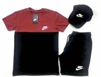Костюм Nike (Футболка + Шорты + Кепка)