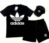 Костюм Adidas (Футболка + Шорты + Кепка)
