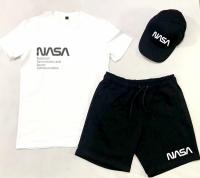 Костюм  NASA (Футболка + Шорты + Кепка)
