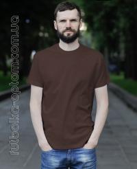 Коричневая мужская футболка Standart