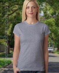 Темно-серая меланжевая женская футболка Standart