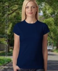 Темно-синяя женская футболка Standart