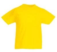 Желтая детская футболка