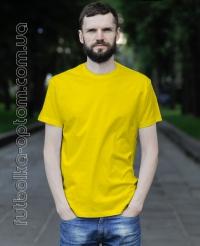 Желтая мужская футболка Standart