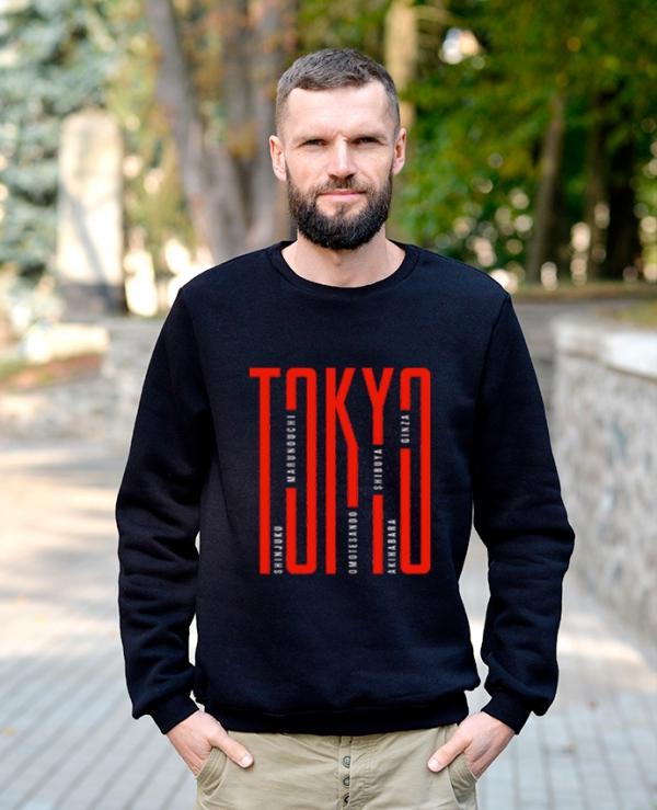 Свитшот трехнитка Tokyo Темно-синий